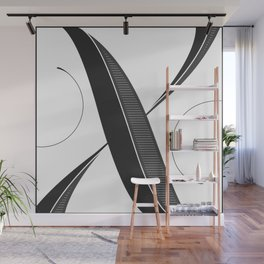 Letter X - Script Lettering Cropped Design Wall Mural