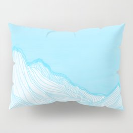 Lines in the mountains - Aqua Pillow Sham