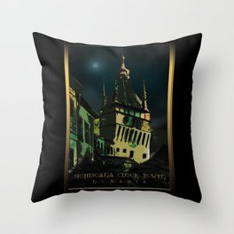#SighisoaraClockTower III Throw Pillow