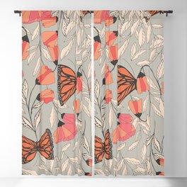 Monarch garden 001 Blackout Curtain