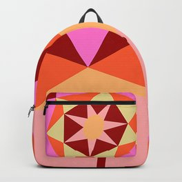 Geometric Flower Digital Illustration Backpack