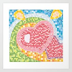 Love Mosaic Art Print