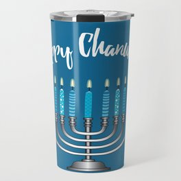 Happy Chanukah Travel Mug
