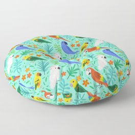 Parrots Floor Pillow