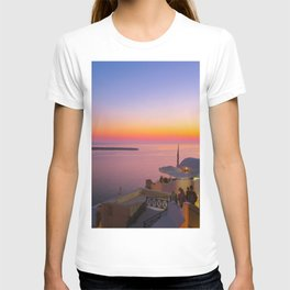 Sunset in Oia,Santorini T-shirt