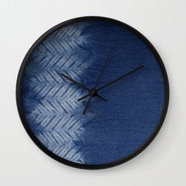 Shibori Chevron Stripe Wall Clock