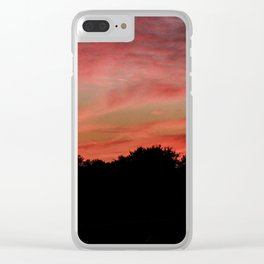 Sunset to end the day Clear iPhone Case