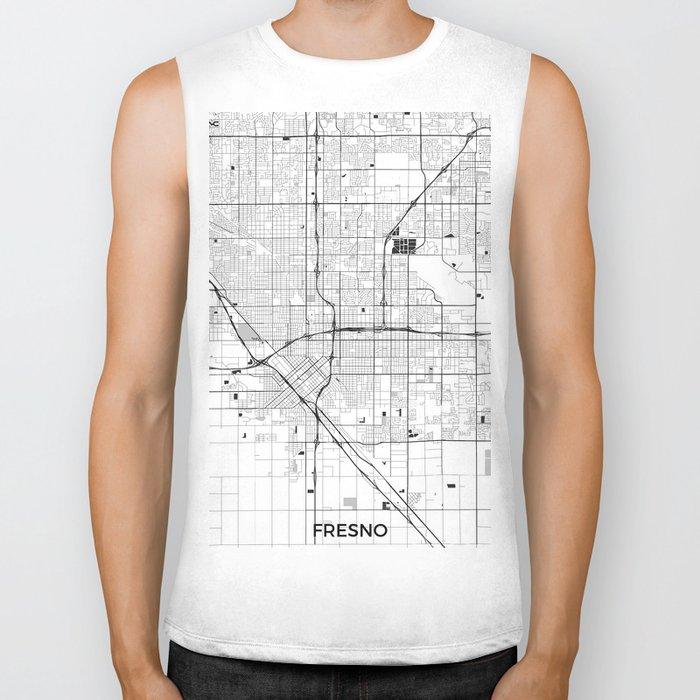 Fresno Map Gray Biker Tank