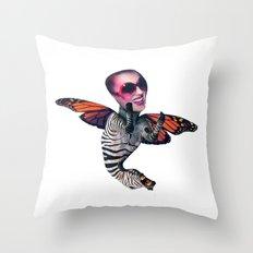 ZEBRA FLY Throw Pillow