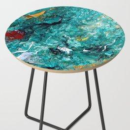 """Leprechaun's Koi Pond"" Painting Side Table"