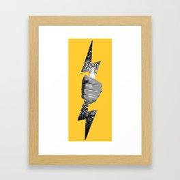 Thunderbolt Framed Art Print