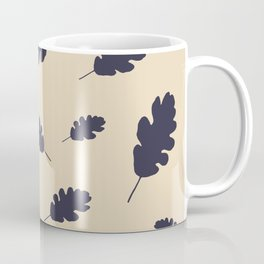 Fall pattern blue oak leaves Coffee Mug