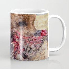 Hungry Alaskan Grizzly Bear - Eating Raw Meat Coffee Mug