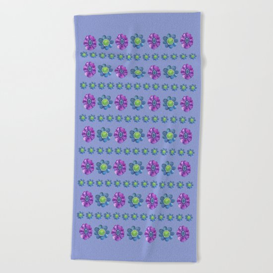 Blue and Purple Pattern II Beach Towel