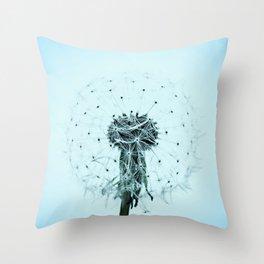 Dandilion flower Throw Pillow