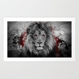 Abstract Lion Art Print Art Print
