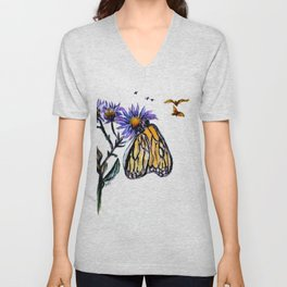 Erika Butterfly One Unisex V-Neck