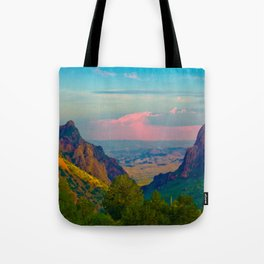 Chisos Mountain Park Big Bend Texas Tote Bag