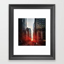 manhattan sunset 6 Framed Art Print