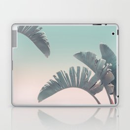Tropical Palm Leaves In Pastel Light Laptop & iPad Skin