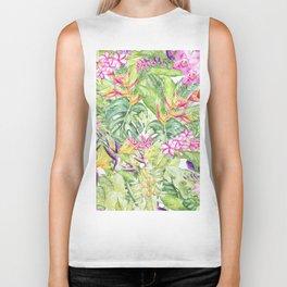 Tropical Garden 1A #society6 Biker Tank