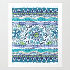 Boho Blue Art Print