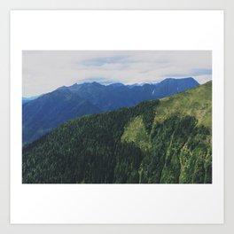 mountains love you Art Print