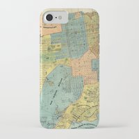 san francisco map iPhone & iPod Cases featuring Vintage Map of San Francisco (1915) by BravuraMedia