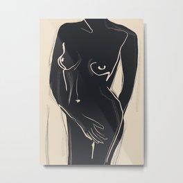 Abstract Art Nude 5 Metal Print