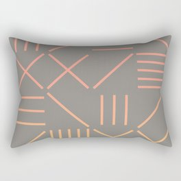 Geometric Shapes 12 Gradient Rectangular Pillow