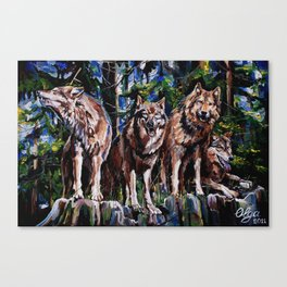 """""""The Pack """" Canvas Print"""