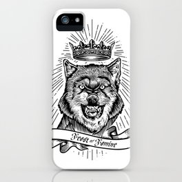 """""""Feast Or Famine"""" – Crowned Wolf iPhone Case"""