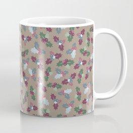 Holly Christmas Pattern Coffee Mug