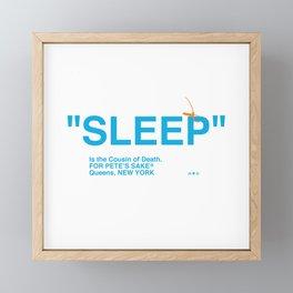"""SLEEP"" Framed Mini Art Print"