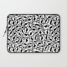 Leopard Print | black and white monochrome | Cheetah texture pattern Laptop Sleeve