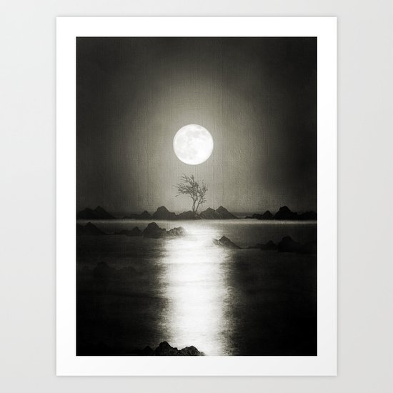 When the moon speaks (part III) Art Print