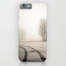 Tyre tracks in snow iPhone 6s Slim Case