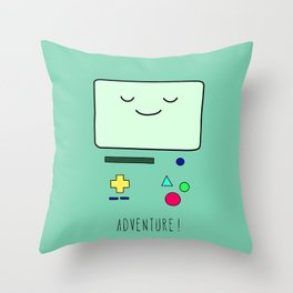 Adventure! BMO Throw Pillow