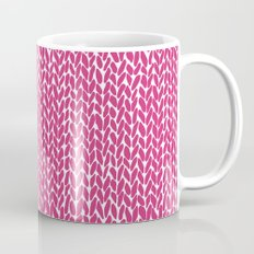 Hand Knit Hot Pink Coffee Mug