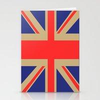 union jack Stationery Cards featuring Union Jack by MeMRB