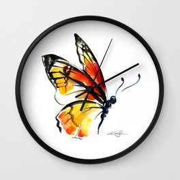 Monarch No. 3 by Kathy Morton Stanion Wall Clock