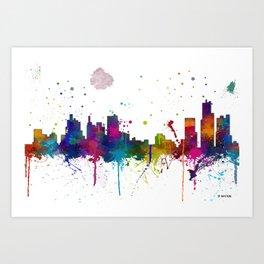 Bostonian Skyline MCLR 1 Art Print