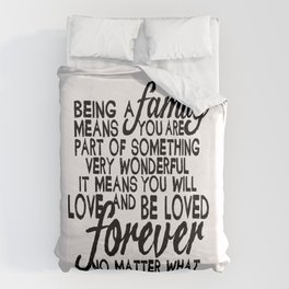 Being A Family Duvet Cover