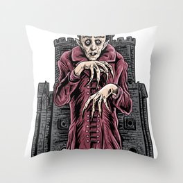 Nosferatu vampire classic horror black custome Throw Pillow