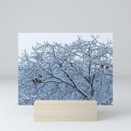 It's snowing Mini Art Print