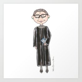 Little RBG Art Print