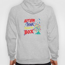 Autism Think Outside Support Awareness Adult Gift Hoody