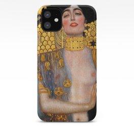 "Judith and the Head of Holofernes Gustav Klimt "" Judith 1 "" iPhone Case"
