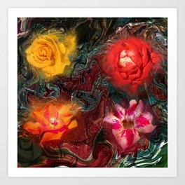 Bouquet Abstraction Series  Art Print