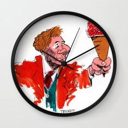 Ice Cream Man with Orange Jacket Wall Clock